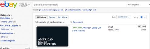 eBay AEO Gift Card