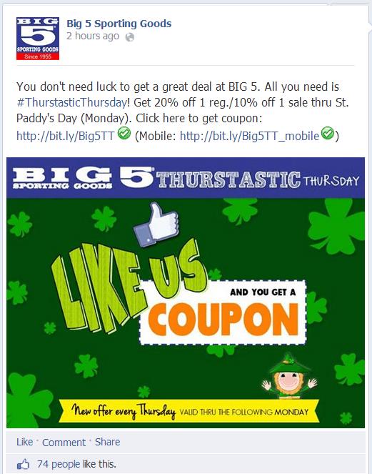 Big 5 on Facebook