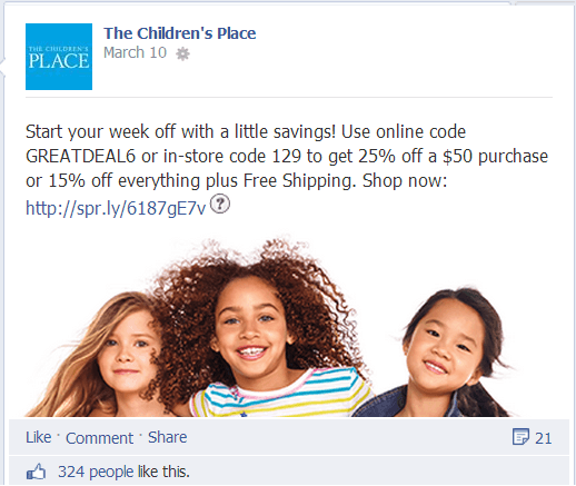 Children's Place on Facebook