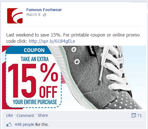 Famous Footwear on Facebook