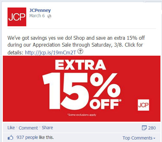 JCPenney on Facebook