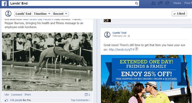 Lands' End on Facebook
