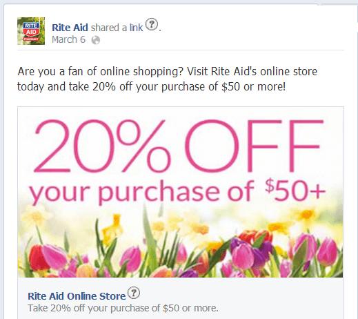 Rite Aid on Facebook