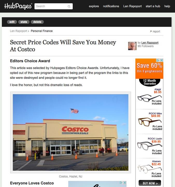 Costco Price Codes