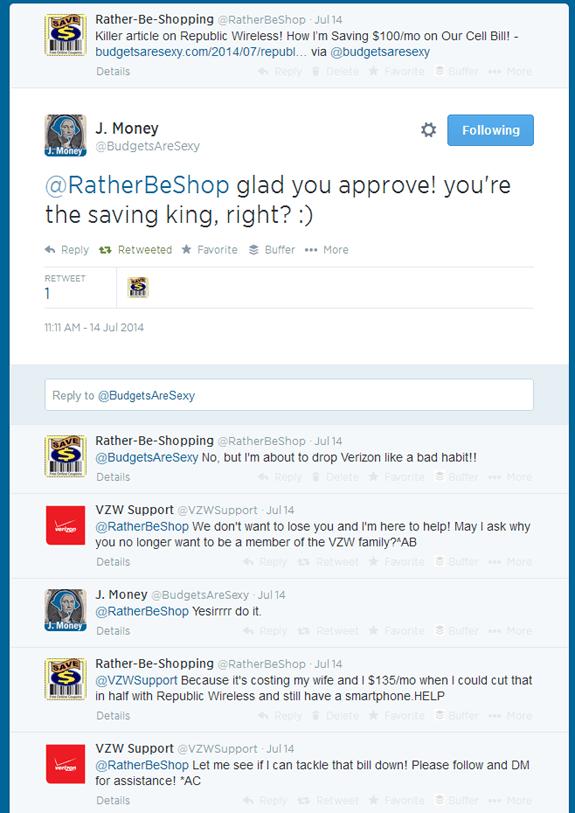 Twitter and Verizon