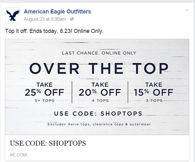 AEO Facebook page