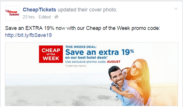 Cheap Tickets on Facebook