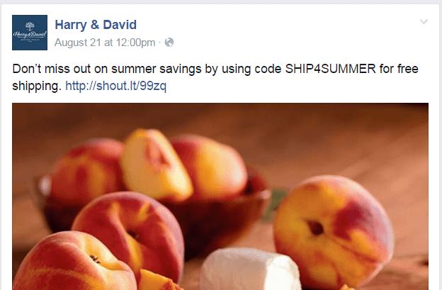 Harry & David Facebook page