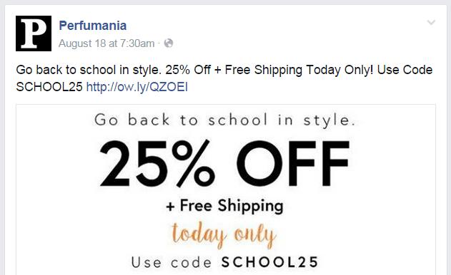 Perfumania Facebook page