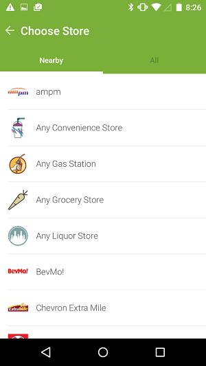 iBotta Store list