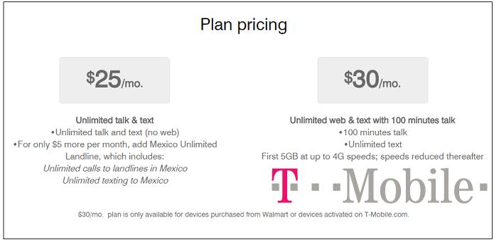 T-Mobile $30 Month Plan