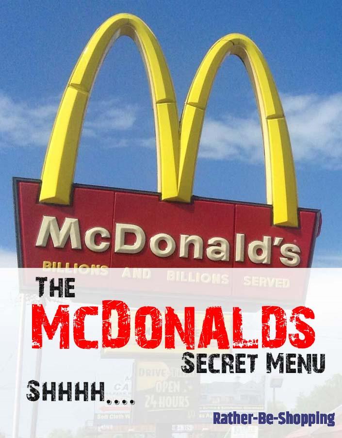 The McDonald's Secret Menu