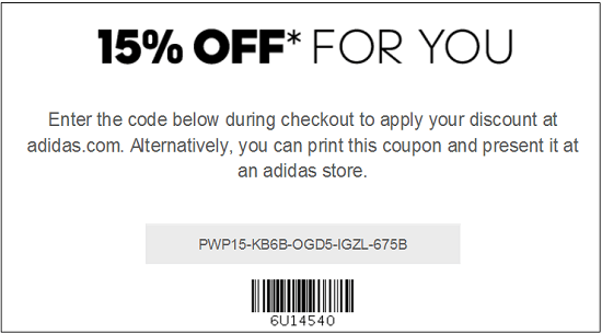 Adidas New Email Subscriber Coupon