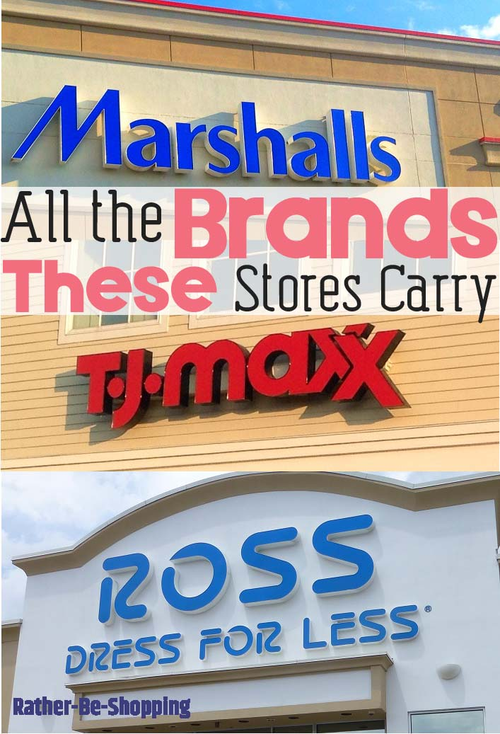 The Name-Brands You Can Find at Ross, TJ Maxx, and Marshalls