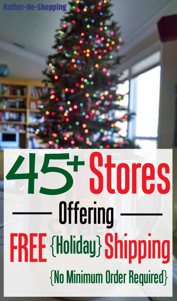 45+ Retailers Offering FREE Shipping on Holiday Shopping (With NO Minimum)