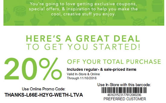 Joann New Email Subscriber Coupon