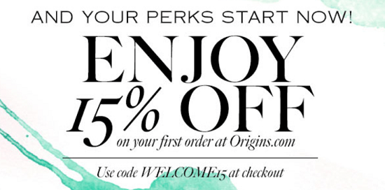 Origins New Email Subscriber Coupon