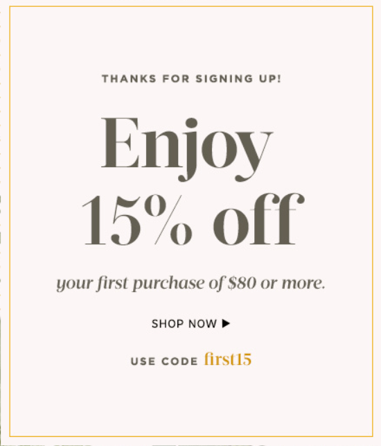 Sole Society New Email Subscriber Coupon
