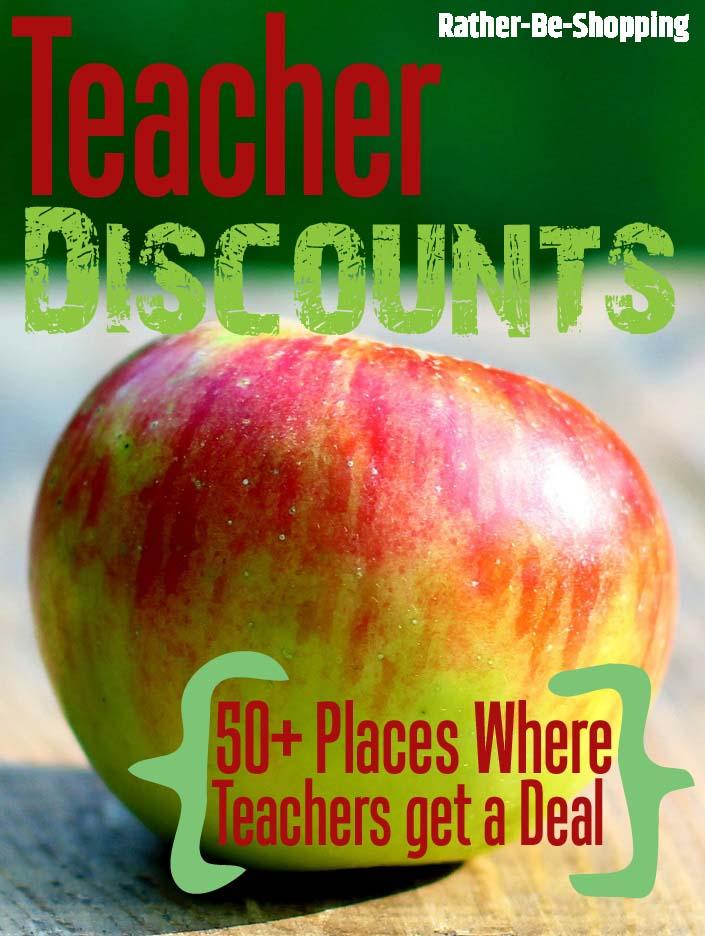 50+ Teacher Discounts