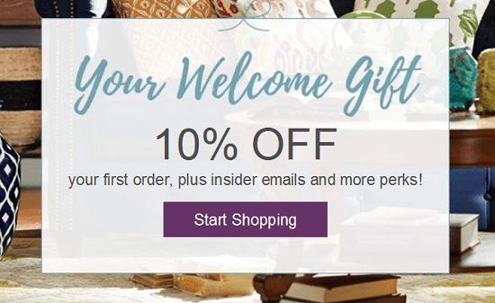 Wayfair New Email Subscriber Coupon