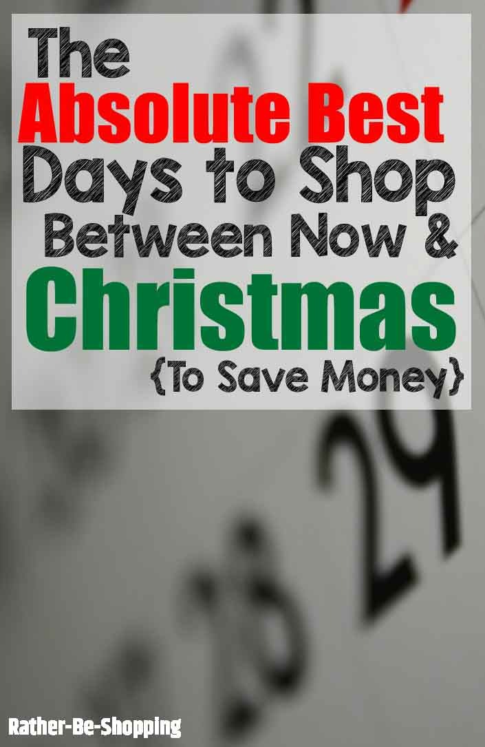 Absolute BEST Days to Shop Between Now and Christmas to Score a Deal