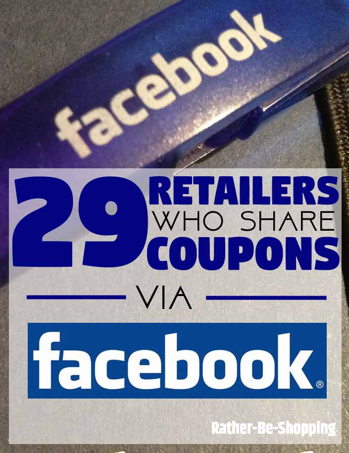 The 29 Retailers Who Actually Share Coupons on Their Facebook Page