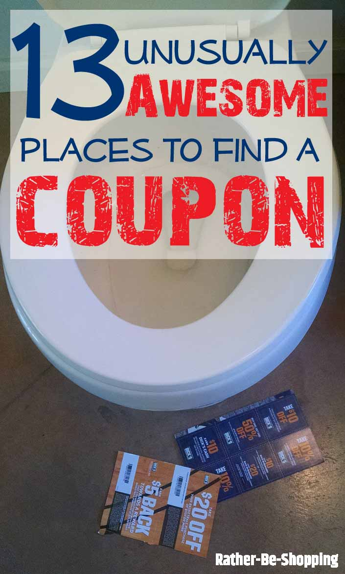 13 Unusual (Yet Awesome) Places to Find a Coupon
