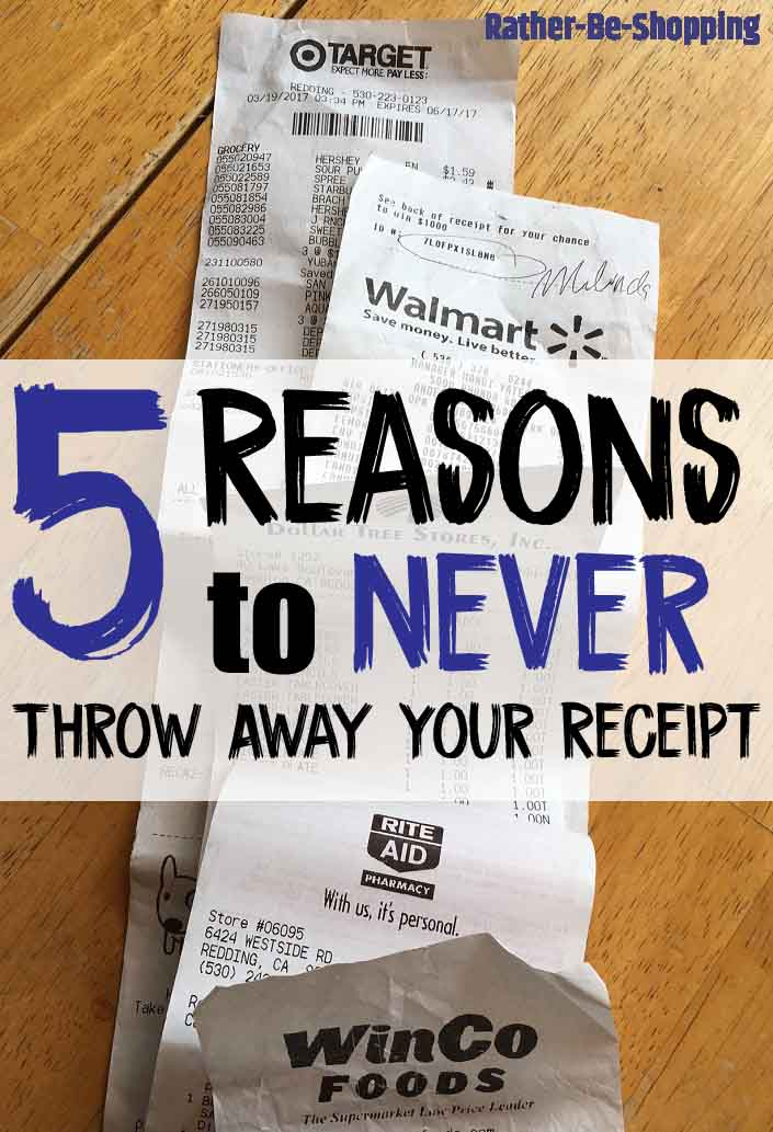 5 Reasons To Never Throw Away Your Receipt