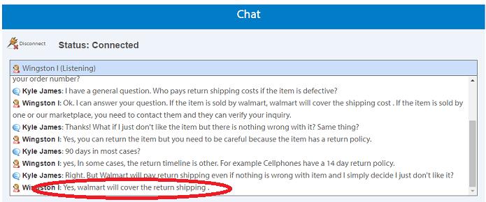 Walmart Return