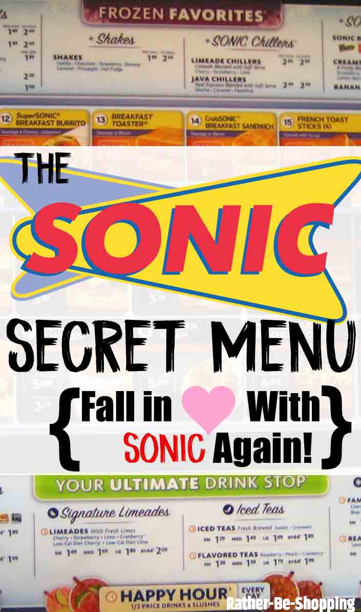 Sonic Secret Menu: The Drive-In Menu That'll Change Your Life