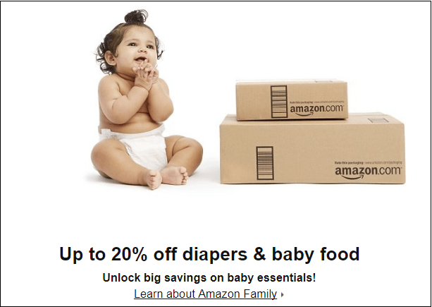 20% Off Diapers and Baby Food