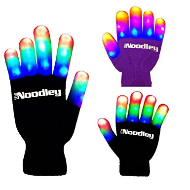 The Noodley's Flashing LED Light Gloves