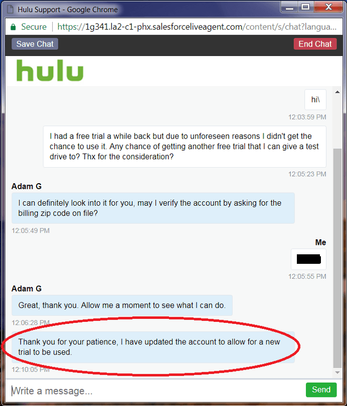 Hulu Trial Extension