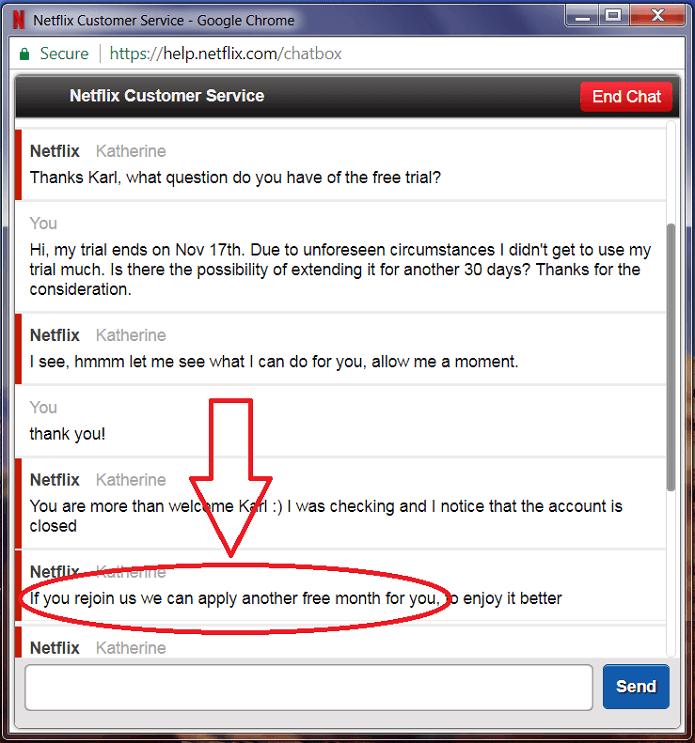 Netflix Trial Extension