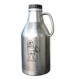 Beer Growler for Craft Beer or Water Bottle