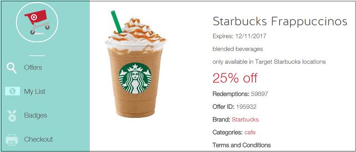 Starbucks with Target CartWheel App