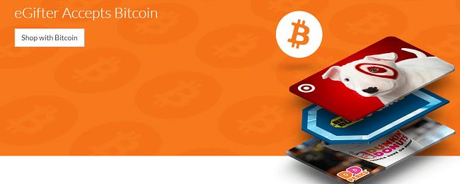 eGifter Accepts Bitcoin