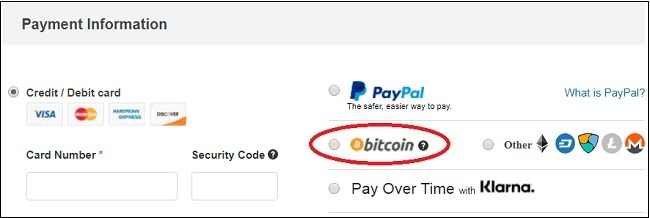Overstock Accepts Bitcoin