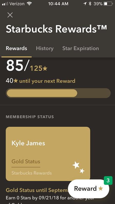 Starbucks Gold Card