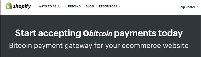Shopify Accepts Bitcoin