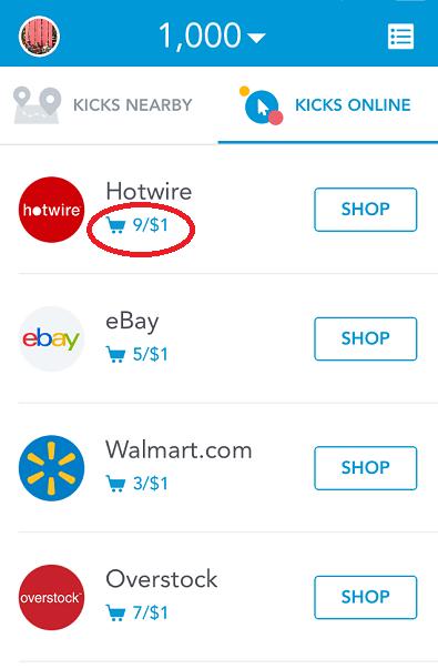 Shop Online with ShopKick
