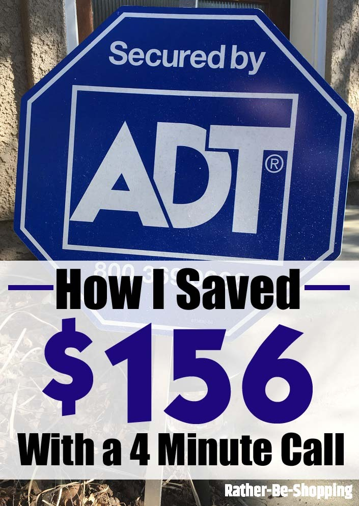 Lower Your ADT Bill: How I Saved $156 in 4 Minutes