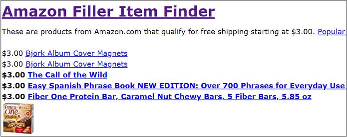 Amazon Filler Items