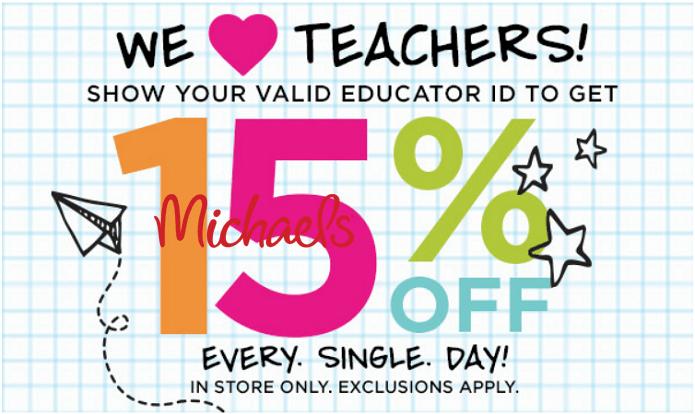 Michaels Teacher Discount
