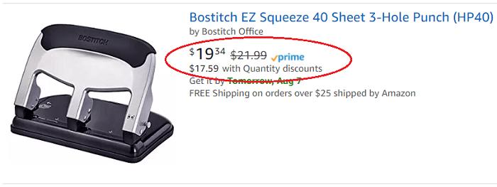 Amazon Quantity Discounts