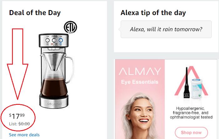 Amazon Wrong Price
