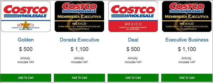 MX Costco membership
