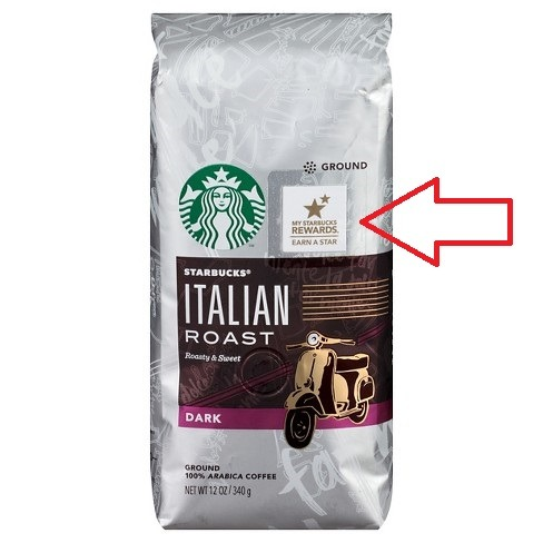 Starbucks stars on bags