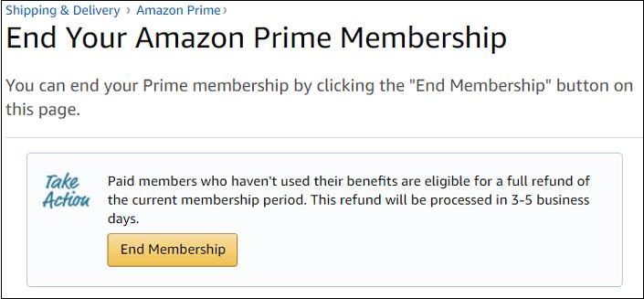 End Prime Membership