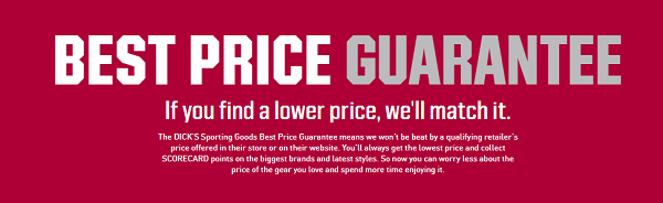 Dick's Price Guarantee